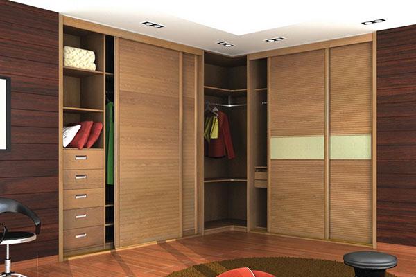•Угловой шкаф-купе в эко стиле