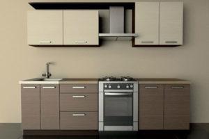 Кухня ДСП комбинированного цвета