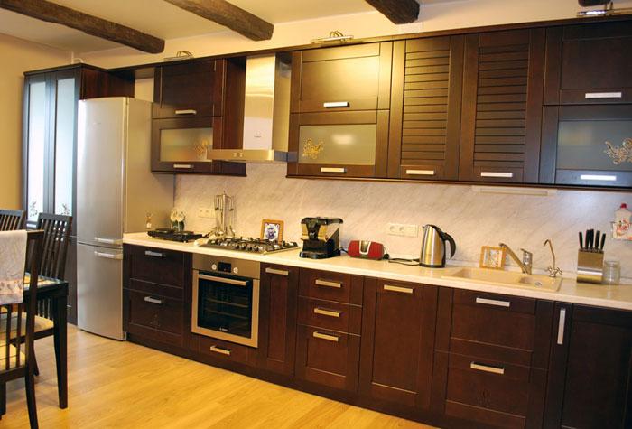Кухня модель из дерева
